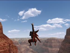 空中浮遊1(峡谷)