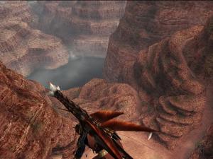空中浮遊2(峡谷)