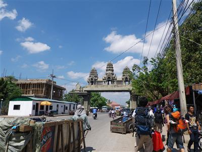 カンボジア側国境