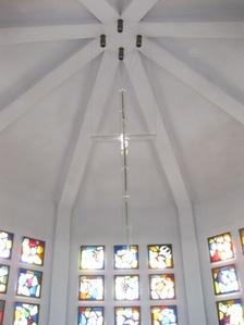 同志社女子大栄光館 瞑想室天井