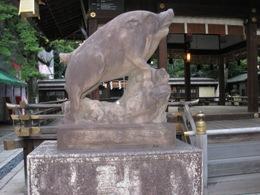 護王神社 狛猪左