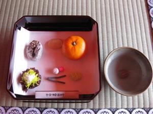 祝菓子と福茶