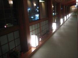 奥香の湯 廊下