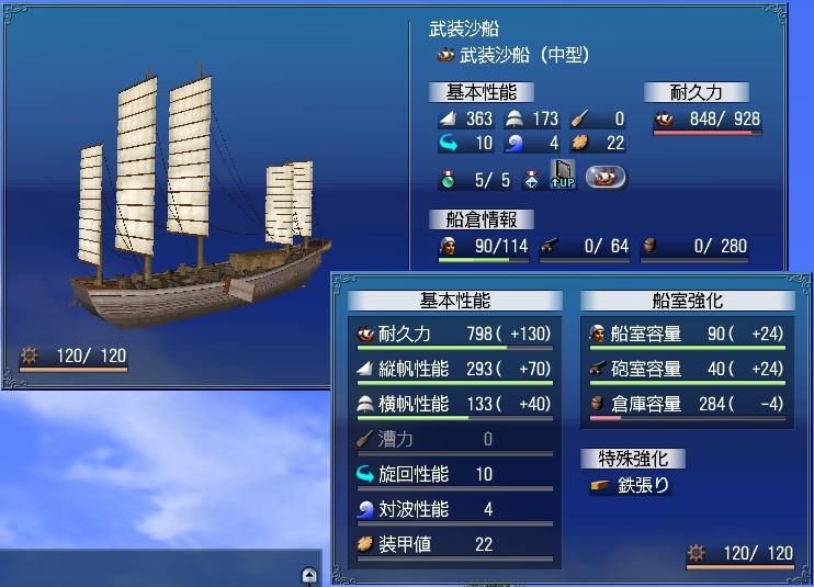武装沙船完成