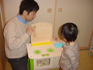 パパとおもちゃ遊び