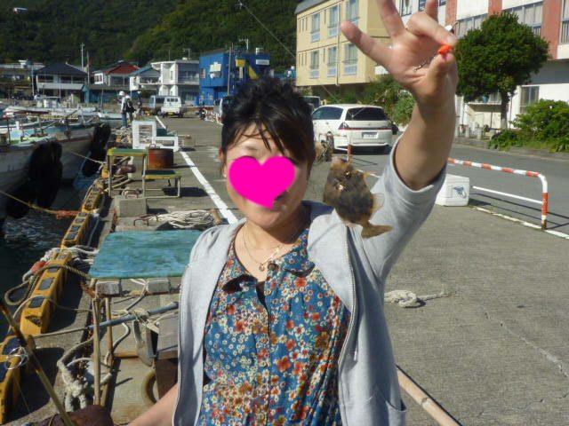 暑い~~~! カワハギ釣れた~~!!