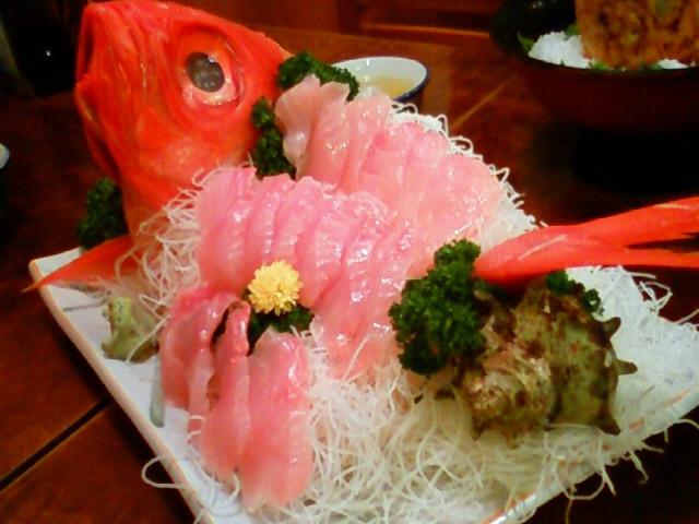 いつも食べる 金目鯛姿造り