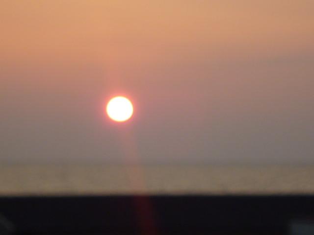 夕陽が 綺麗でしたよね。。