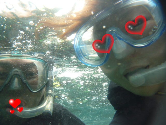 海の中で 撮ってみた!!