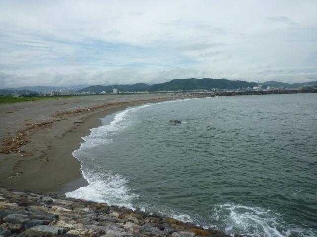かつら浜♪ 海っぺり ずっと歩く~。