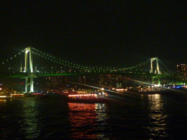 夜の レインボーブリッジ!!