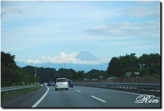 中央道から見る富士山