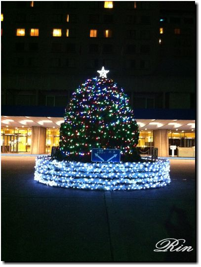 東京プリンスのクリスマスツリー