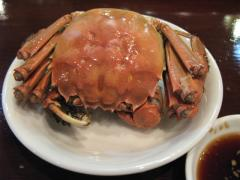 上海蟹の姿蒸し
