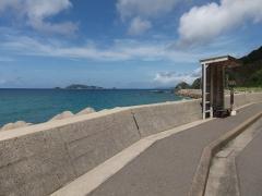 バス停と高島