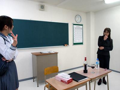 教師とたわむれ