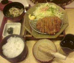 20110318トンカツ定食