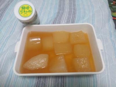 家ご飯20110710冷した冬瓜に柚子ごしょう