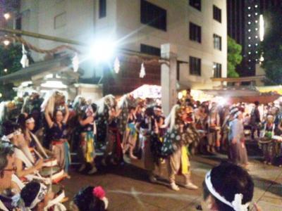 お初天神夏祭り2011獅子の宮入