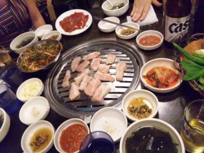 韓国焼肉豚の首の肉