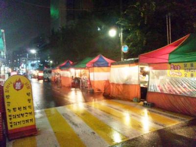 韓国ローカル屋台街