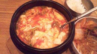 韓国料理セント豆腐チゲランチ850円