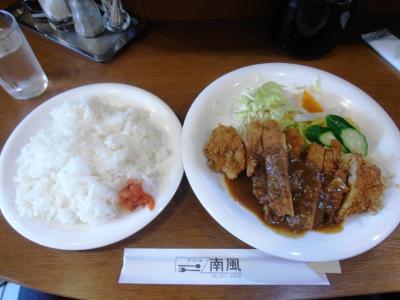 南風サービスセット800円20111017ポークカツレツ
