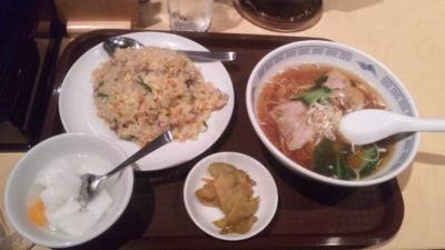 福臨門ランチチャーハン+ラーメン小750円