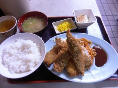 清水いわしフライ定食490円
