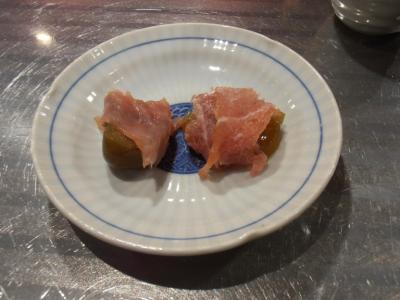 ラヴィリンスあんぽ柿&いちじく甘露煮の生ハムのせ
