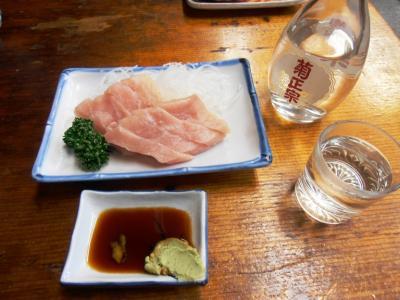 あづまやカジキマグロ400円お酒350円