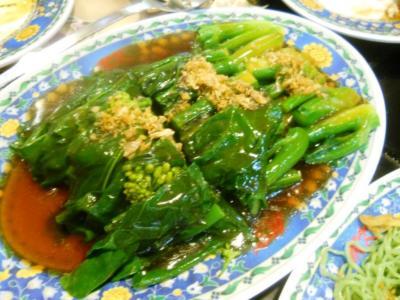 2011年8月タイ-スリランカ旅行タイ後半21日タイスキMKの茎野菜炒め