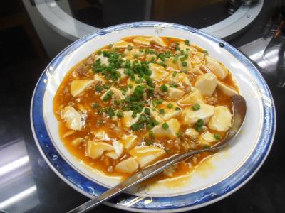 2011年8月タイ-スリランカ旅行タイ後半21日エカマイ大連飯店麻婆豆腐