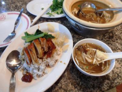 2011年8月タイ-スリランカ旅行タイ後半22日和盛豊酒店フカヒレとアヒルローストご飯