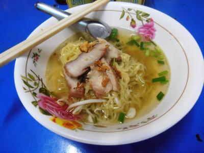 2011年8月タイ-スリランカ旅行タイ前半4日カオサンのラーメン30B