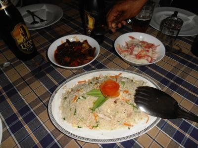2011年8月タイ-スリランカ旅行スリランカ前半7日ホテルシーズンのチャーハン