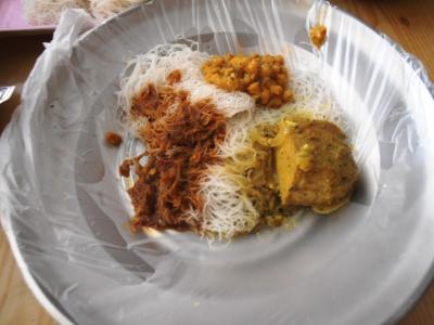 2011年8月タイ-スリランカ旅行スリランカ前半8日朝食フィッシュと豆カレー