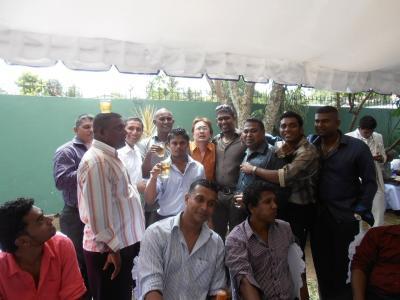 2011年8月タイ-スリランカ旅行スリランカ前半8日サドゥン結婚式友人ジーターそっくり