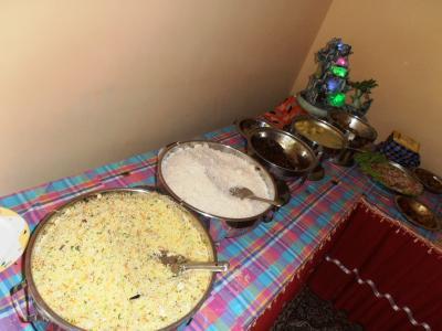 2011年8月タイ-スリランカ旅行スリランカ前半8日サドゥン結婚式カレー1