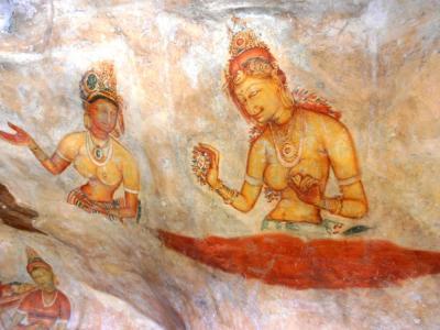 2011年8月タイ-スリランカ旅行スリランカ前半10日シーギリヤロック壁画シーギリヤレディ1