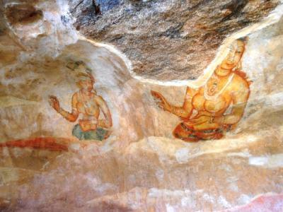 2011年8月タイ-スリランカ旅行スリランカ前半10日シーギリヤロック壁画シーギリヤレディ2
