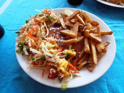2011年8月タイ-スリランカ旅行スリランカ後半11日ヒッカドゥワ朝食ツナステーキ