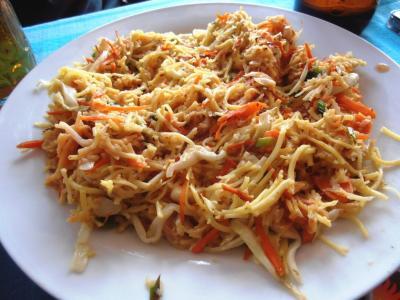 2011年8月タイ-スリランカ旅行スリランカ後半11日ヒッカドゥワ朝食フライドヌードル