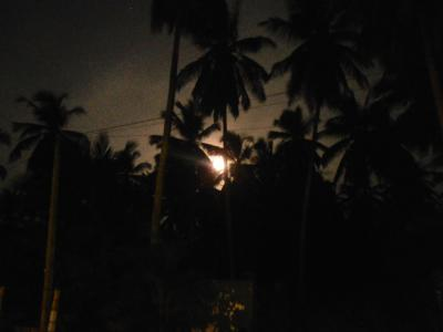 2011年8月タイ-スリランカ旅行スリランカ後半13日クルネーガラ郵政トップのリゾートで満月