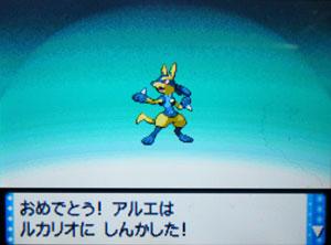 ルカリオに進化~っ!!