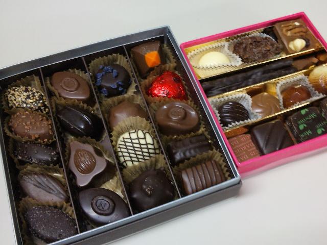 ベルギーチョコ。