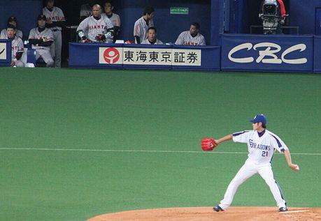 2011年10月9日巨人戦チェン投手