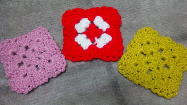 最初の編み物1