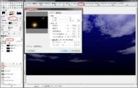 GIMPグラデーションフレア