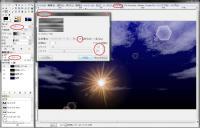 GIMP海ソリッドノイズ